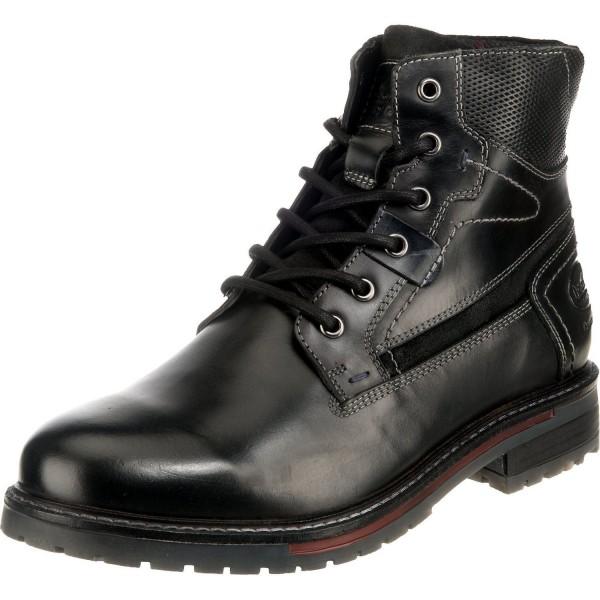 DOCKERS by Gerli Herren Combat Boots Stiefeletten Stiefel Schwarz