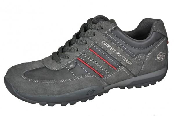 Dockers by Gerli Herren Halbschuhe Sneakers Schuhe Asphalt Grau