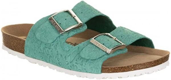 JOE N JOYCE London Sandale Sandalette Hausschuhe Komfort Light Green