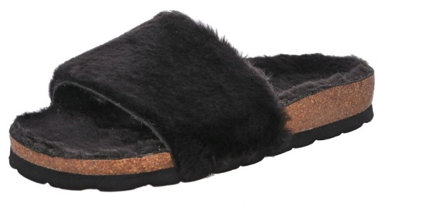 Rohde Alba 6060 Damen Hausschuhe Sandale Pantolette Kunstfell gefüttert
