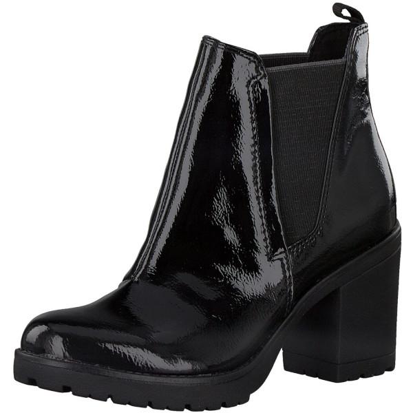 Marco Tozzi Damen Stiefeletten Chelsea Boots Lack Patent
