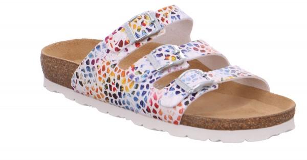 Rohde Alba Damen Sandale Sandalette Pantoletten Weiß
