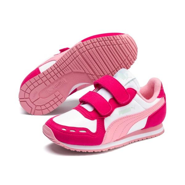 Puma Cabana Racer SL V PS Kinder Schuhe Sneaker Puma White Bright Rose