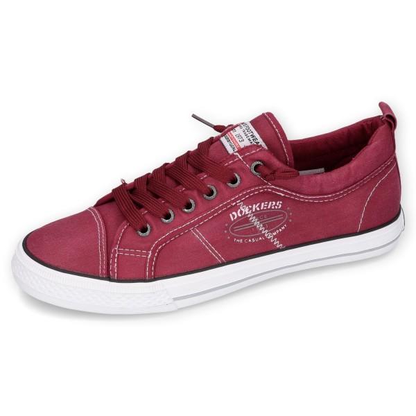DOCKERS by Gerli Herren Sneaker Washed Canvas Schuhe Rot
