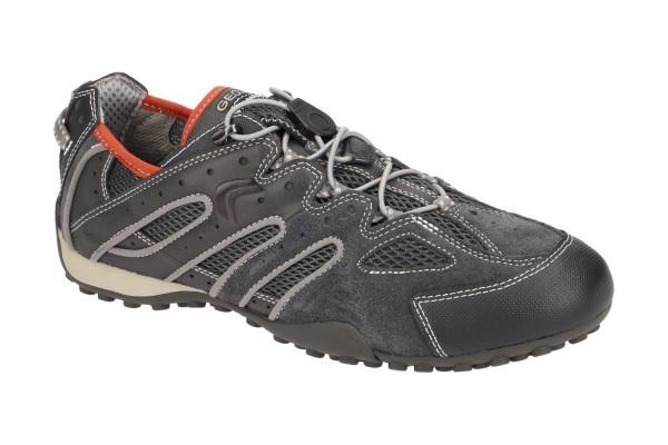Geox Respira Snake J Herren Sneakers DK Grey Schnellschnürung