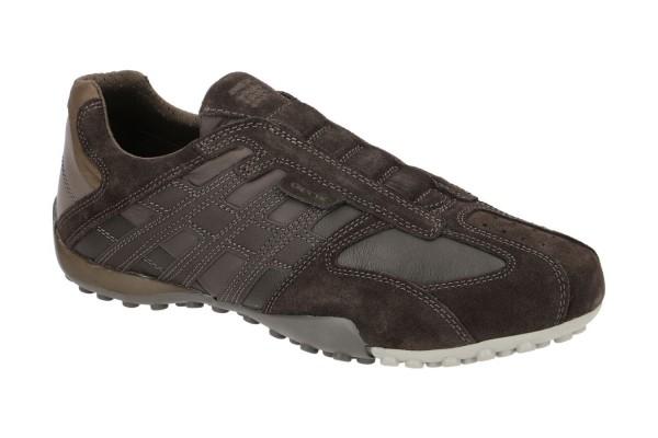 Geox Respira Uomo Snake F Herren Sneakers Halbschuhe Slipper DK Brown