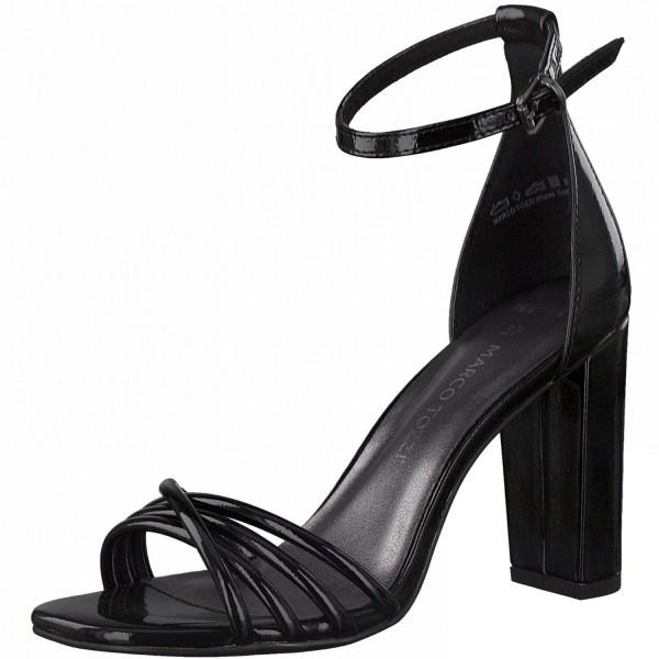 Marco Tozzi Damen Slingback Sandalette Sandale High Heels Blockabsatz Party