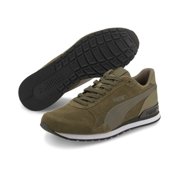 Puma ST Runner v2 SD Sneaker Turnschuhe Suede 365279 Schwarz Unisex