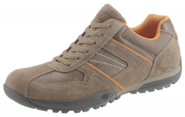 Dockers by Gerli Herren Halbschuhe Sneakers Schuhe Taupe