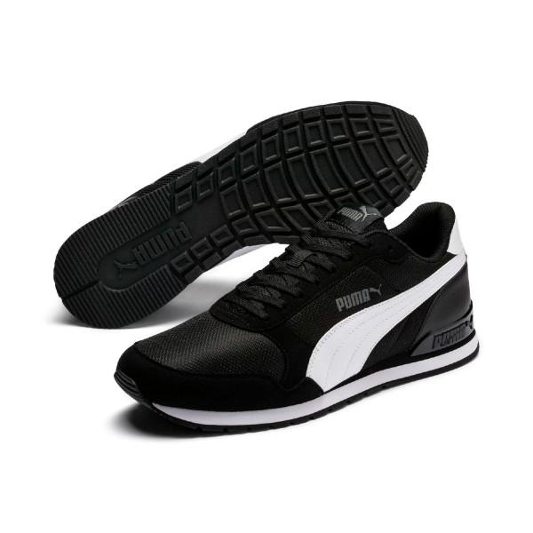 Puma Unisex ST Runner v2 Mesh Sneaker Low Turnschuhe Black Schwarz