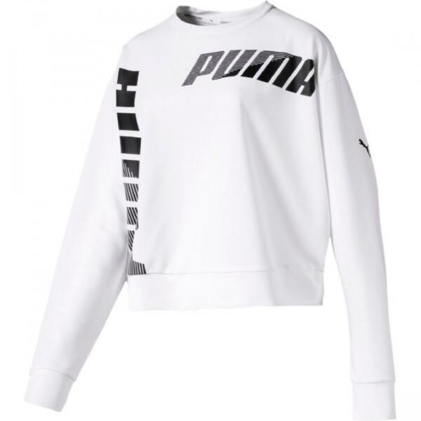 PUMA Damen Modern Sport Crew Sweat TR Sweatshirt Langarm 850078 Puma White