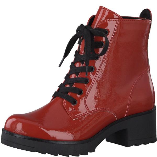 Marco Tozzi Damen Stiefeletten Biker Boots Chukka Boots Lack