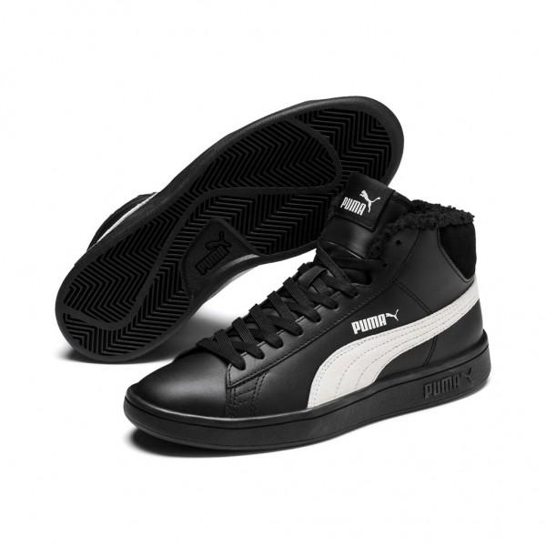 Puma Smash v2 Mid L Fur Jr Damen Sneaker Schuhe Retro gefüttert Mid Cut