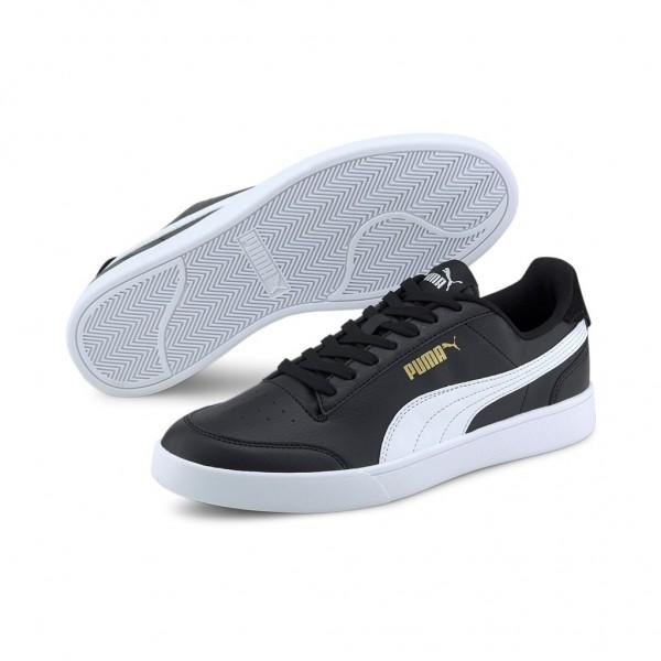 Puma Herren Shuffle Fashion Sneaker   Puma Black - White - Gold
