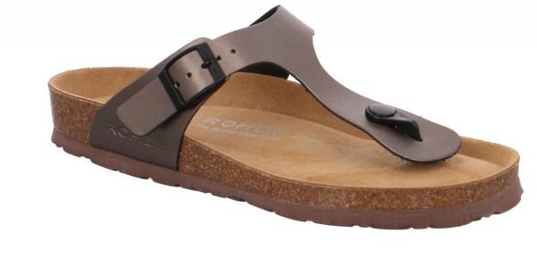 Rohde Alba 5600 Damen Sandale Sandalette Zehentrenner 88 Altsilber