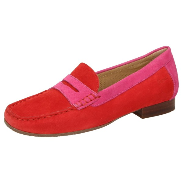 SIOUX Germany Damen Schuhe Slipper CORBINA Wechselfußbett Rot Pink Fire