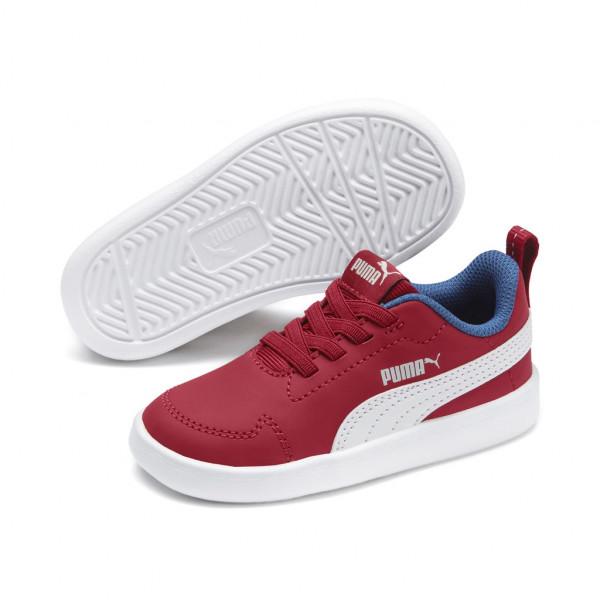 Puma Unisex Kinder Courtflex Inf Schuhe Sneaker Turnschuhe Rot Weiß 362651