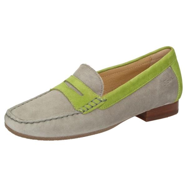 SIOUX Germany Damen Schuhe Slipper CORBINA 5.5 Wechselfußbett Grau Grün