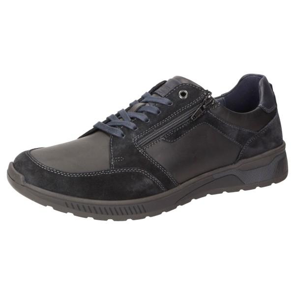 SIOUX Hensley-704-J Sneaker Halbschuhe Schnürschuhe Extraweit Schwarz