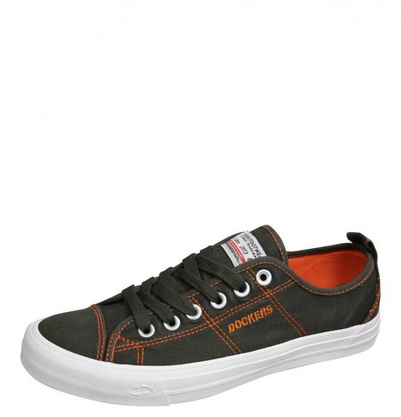 DOCKERS by Gerli Herren Sneaker Washed Canvas Schuhe Khaki