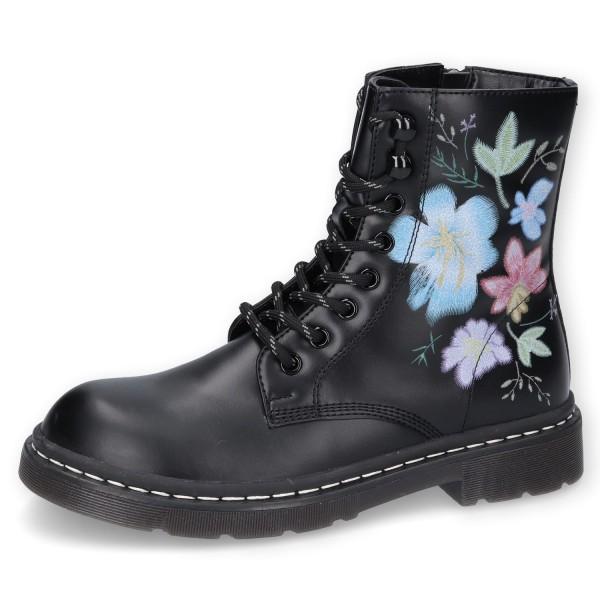 Dockers by Gerli Damen 45TS201 Stiefel Dessert Boots Combat Boot Blumenmuster