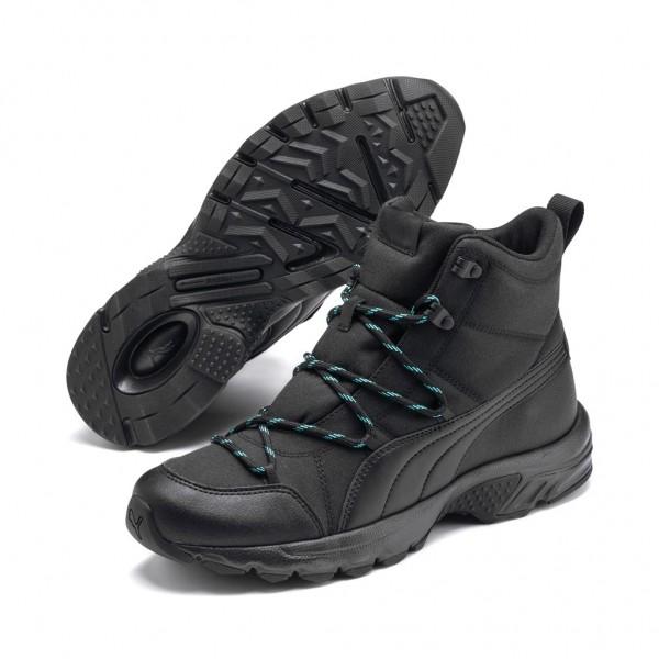 Puma AXIS TR BOOT WTR Trail Outdoorschuhe Sneaker Schwarz Wasserabweisend