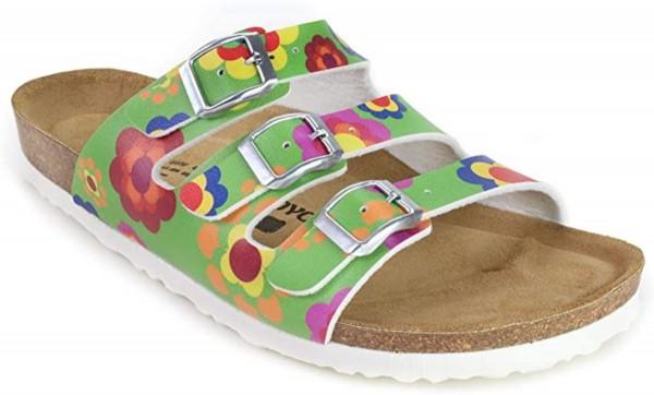 JOE N JOYCE Paris Sandale Sandalette Hausschuhe SynSoft Komfort Florigreen