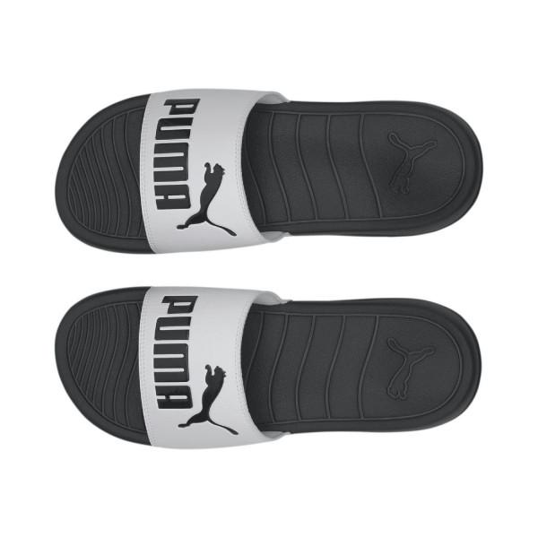PUMA Unisex Badeschuhe Badesandale Sandale POPCAT-20 372279 Schwarz Weiß