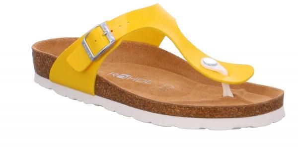 Rohde Alba 5610 20 Damen Sandale Sandalette Zehentrenner Gelb