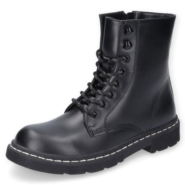 Dockers by Gerli Damen Stiefel Dessert Boots Combat Boot Allblack