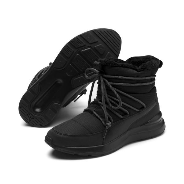 Puma Damen Adela Winter Boot Outdoorschuhe Sneaker gefüttert Schwarz
